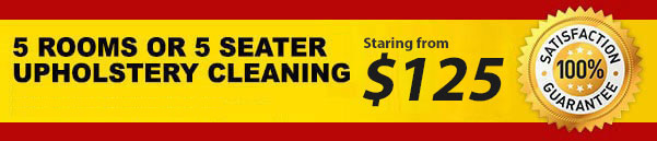 Steam Carpet Cleaning 5 Rooms Promo Deal